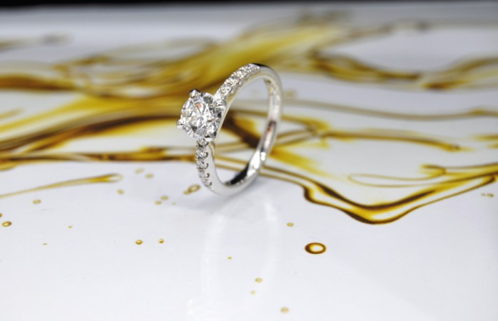 Diamond engagement rings A S Jewellers in Hatton Garden London